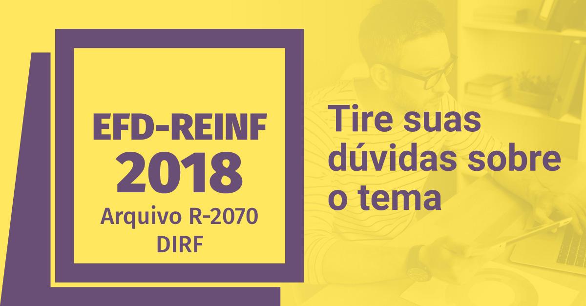 EFD REINF 2018 – Arquivo R-2070