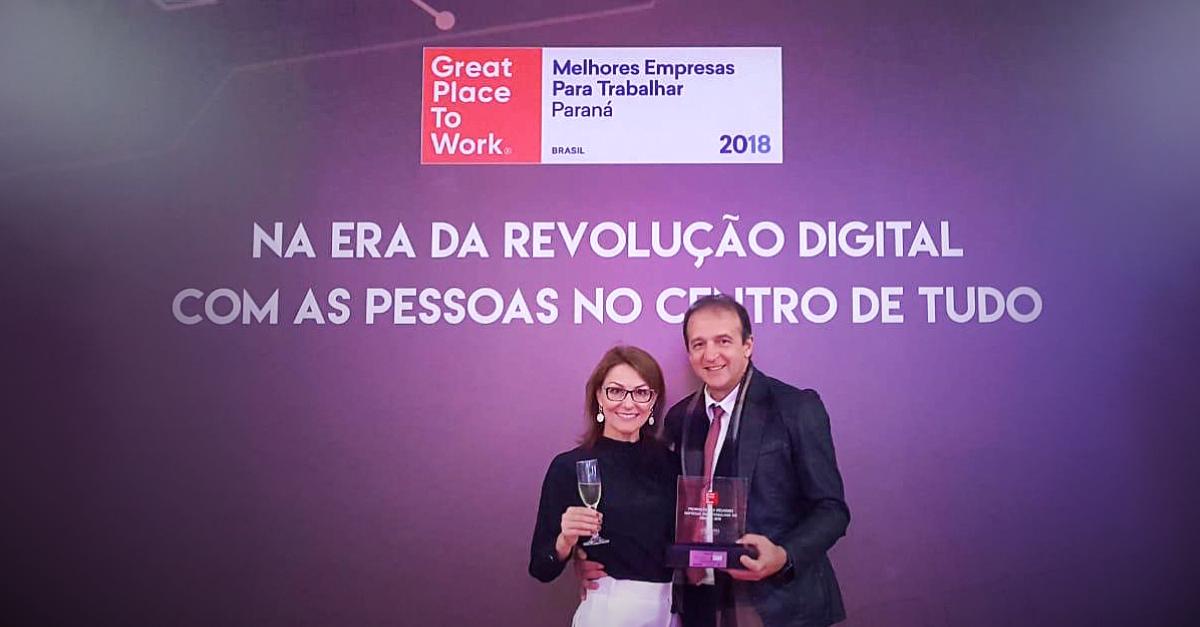 Pelo 4º ano consecutivo a VIASOFT está no ranking  do GPTW Paraná