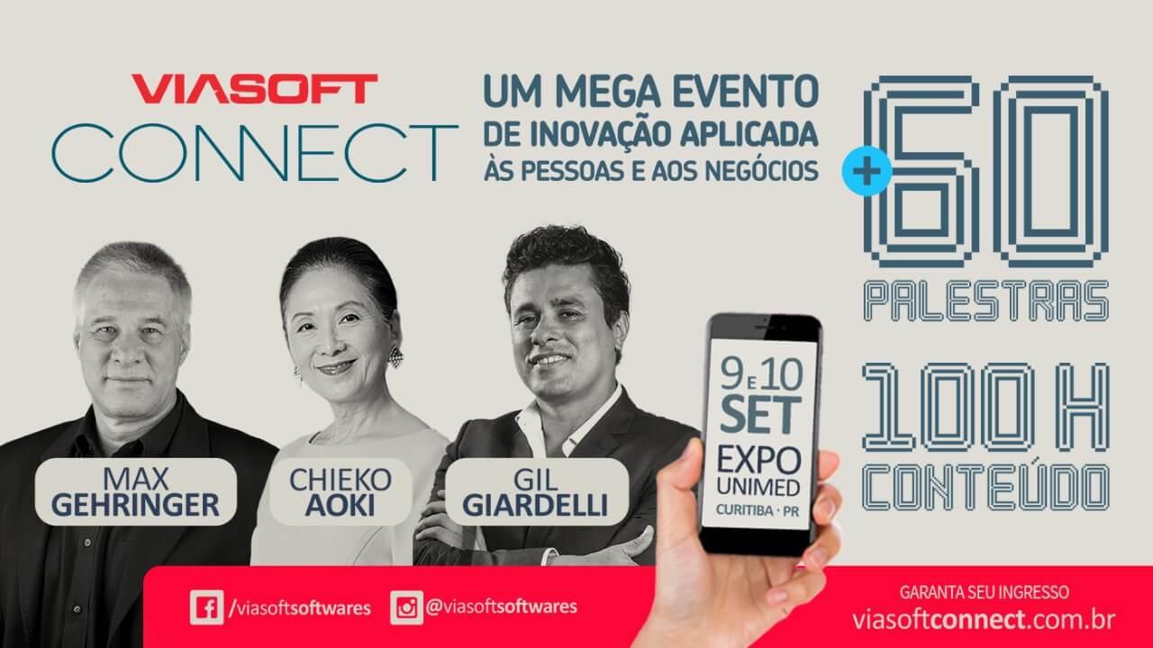 Viasoft Connect discutirá as principais tendências e inovações da tecnologia, gestão e empreendedorismo