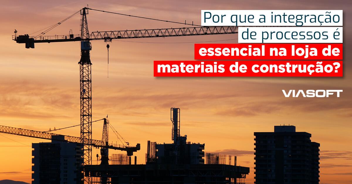 ¿Por qué la integración de procesos es esencial en el almacén de materiales de construcción?